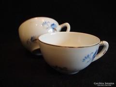 Pajzspecsétes Zsolnay porcelán kávéscsészék