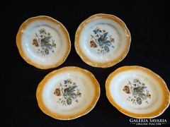 Zsolnay porcelán sárga peremű kistányérok