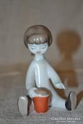 Hollóházi homokozó kislány ( NV )