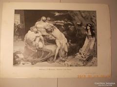 Sámson és Delila :Festményröl készült kép 1880