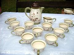 12  személyes Német fajansz teáskészlet