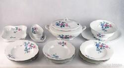 0I586 Régi Zsolnay porcelán étkészlet 11 darab