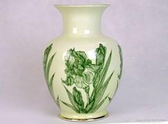0J325 Virág mintás hollóházi porcelán váza