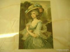 Szépség és a vén idő, használt antik képeslap