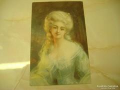 Szőkeség,  antik, postatiszta képeslap.