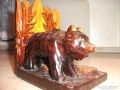 Antik fa faragás. Medve bocsával.Szép darab nagyon . Eladó!