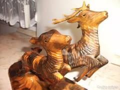 Antik fa faragás 2 db szarvas eladó! Nagyon szép, nagy darab