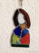 Egyedi iparművész által készitett Tífani Szűz Mária