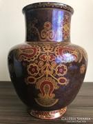 Zsolnay monumentális antik domború pecsétes szecessziós váza