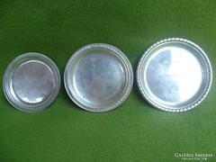 3 darab ezüst tányérka 93 gr