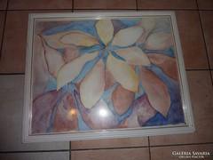Virágok pasztellben, akvarell jelzéssel '91-ből