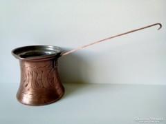 Antik díszes vörösréz kávé kiöntő