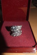 """Ezüst gyűrű - """"Levél"""" mintás"""