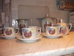 Antik, gyönyörű, porcelán , 4 személyes teáskészletet árulok