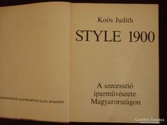 KOÓS JUDITH:STYLE 1900