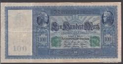 1910. Reichsbanknote 100 Mark, zöld széria.