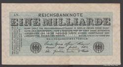 1923.Reichsbanknote, 1 milliárd márka