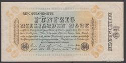 1923.Reichsbanknote, 50 milliárd márka