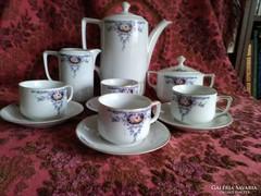Régi 4 személyes Art Deco teás készlet