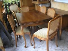 Warrings étkezőasztal 6 székkel130x90x75cm magas és 240cm re