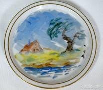 Zsolnay egyedi kézzel festett kis tálka