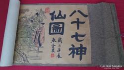 Antik kínai japán képtekercs kép tekercs