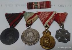 1 vh Szalagsáv kitüntetésekkel