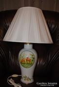 Hollóházi porcelán vadas kézzel festett asztali lámpa