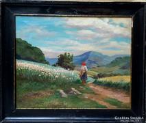 Szontágh Tibor  Eredeti Festménye