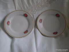 2 db régi kis tányér