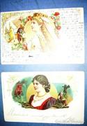 Wagner hősnők Franz Stassen szignós litho lapok