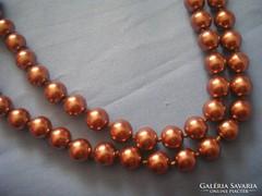 Aranybarna színű,80cm-es gyöngysor