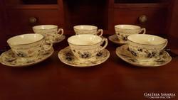 Régi Zsolnay 6 darab csészé+alj