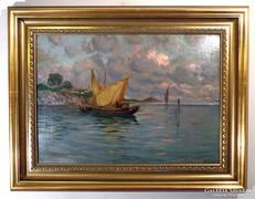 "Guido Grimani ( 1871- 1933 ) "" Tengeri halászok  """