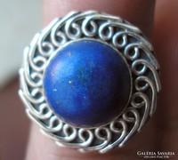 925 ezüst gyűrű, 17,3/54,3 mm, lápisz lazulival