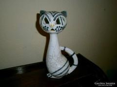 Art deco macska  kerámia figura