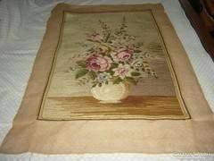 Gobelin kép  Rózsás nagy méretű