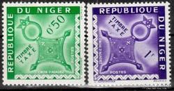 Republique,Du Niger bélyeg pár
