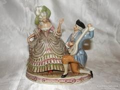 Barokk pár Lippelsdorf porcelán