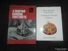 2db könyv a Magyar Szent Koronáról
