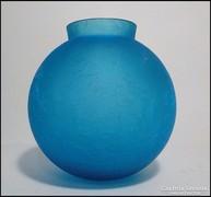 Duci kék üvegváza