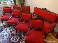 Ónémet kanapé 6db fotellel
