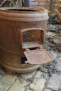 Antik bojler kályha víz melegítő öntöttvas katlan tűzhely