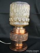 Retro réz asztali lámpa