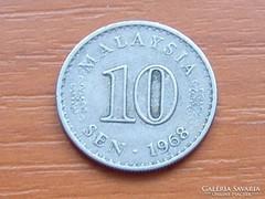 MALAYSIA 10 SEN 1968