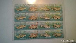 Magyar használt posta bélyegek,védett halfajok,1997.
