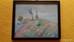 Szende szignós akvarell