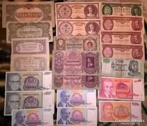 Pengő,forint ,külföldi pénzek 21 db !