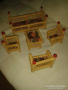 Rattan játék bútor
