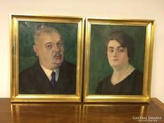 Somogyi Jolán olajfestmények,portré pár